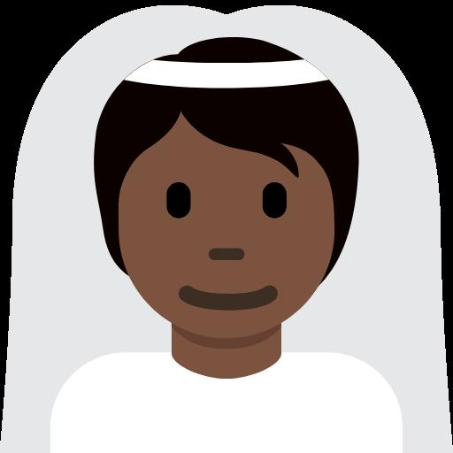 👰🏿 Emoji Person With Veil: Dark Skin Tone