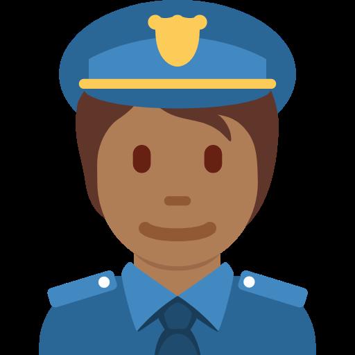 👮🏾 Emoji Police Officer: Medium-Dark Skin Tone