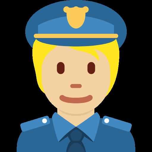 👮🏼 Emoji Police Officer: Medium-Light Skin Tone