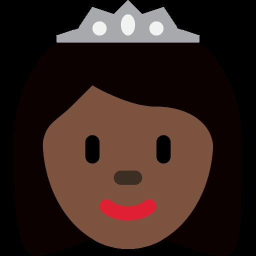 👸🏿 Emoji Princess: Dark Skin Tone