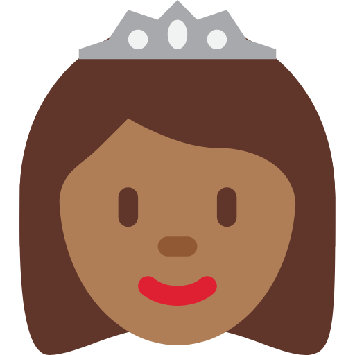 👸🏾 Emoji Princess: Medium-Dark Skin Tone