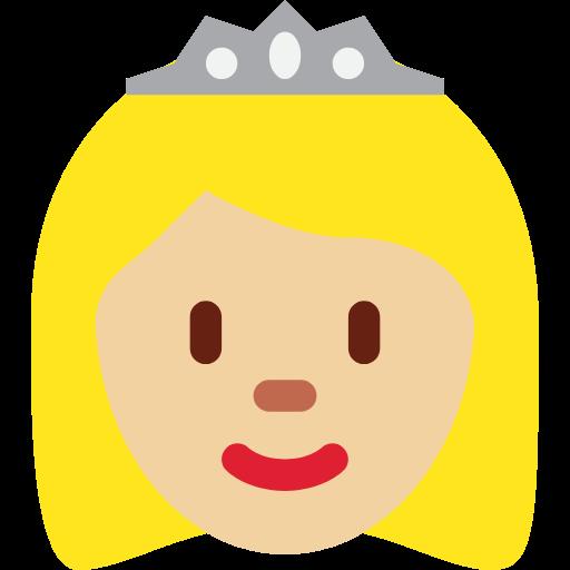 👸🏼 Emoji Princess: Medium-Light Skin Tone