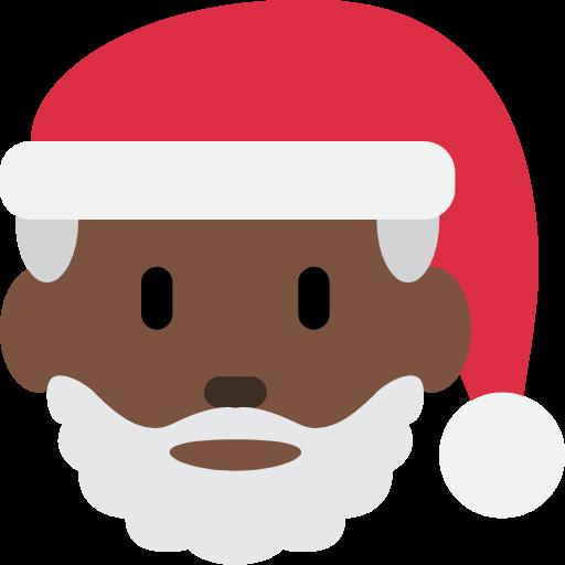 🎅🏿 Emoji Santa Claus: Dark Skin Tone