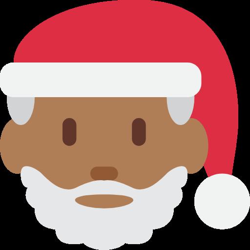 🎅🏾 Emoji Santa Claus: Medium-Dark Skin Tone