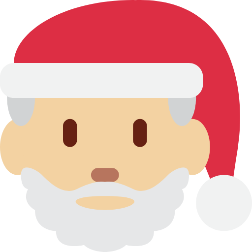 🎅🏼 Emoji Santa Claus: Medium-Light Skin Tone