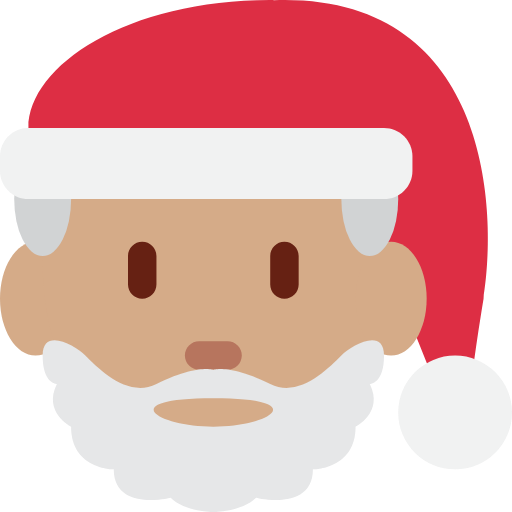 🎅🏽 Emoji Santa Claus: Medium Skin Tone