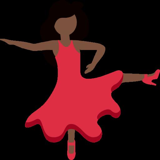 💃🏿 Emoji Woman Dancing: Dark Skin Tone