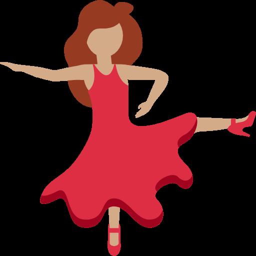 💃🏽 Emoji Woman Dancing: Medium Skin Tone