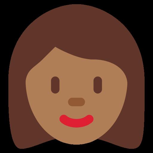 👩🏾 Emoji Woman: Medium-Dark Skin Tone