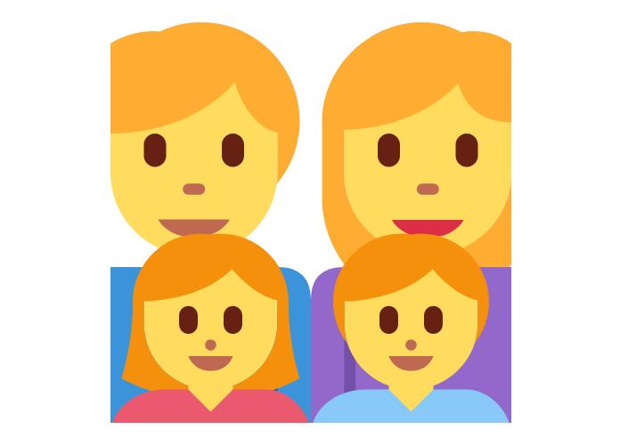 👨👩👧👦 Emoji Family: Man, Woman, Girl, Boy