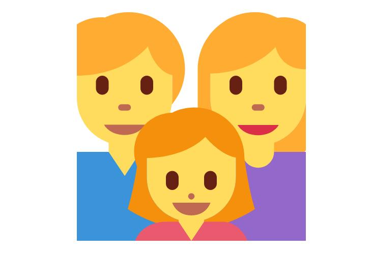 👨👩👧 Emoji Family: Man, Woman, Girl