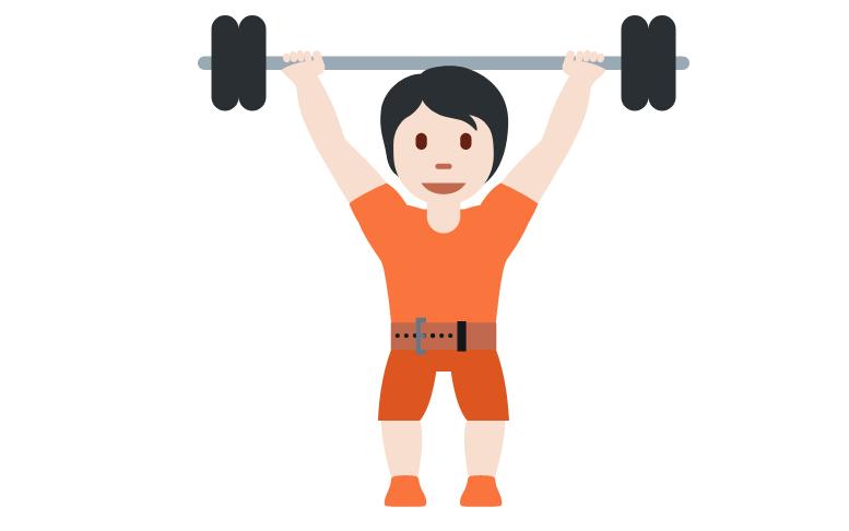 🏋🏻 Person Lifting Weights: Light Skin Tone Emoji