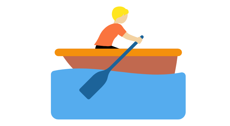 🚣🏼 Person Rowing Boat: Medium-Light Skin Tone Emoji