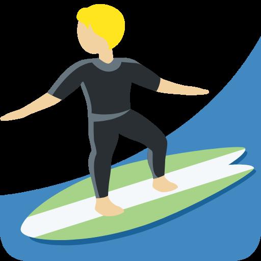🏄🏼 Person Surfing: Medium-Light Skin Tone Emoji