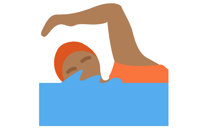 🏊🏾 Person Swimming: Medium-Dark Skin Tone Emoji