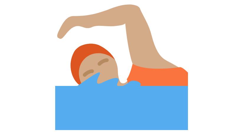 🏊🏽 Person Swimming: Medium Skin Tone Emoji