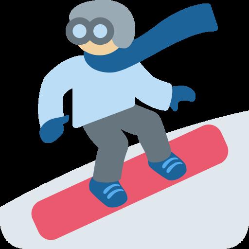 🏂🏼 Emoji Snowboarder: Medium-Light Skin Tone